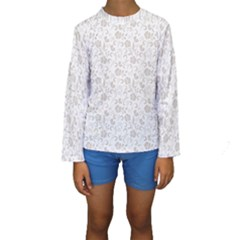 Elegant seamless Floral Ornaments Pattern Kid s Long Sleeve Swimwear