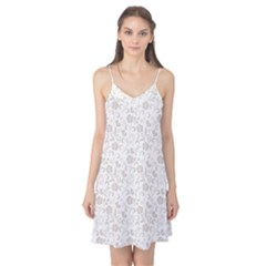 Elegant seamless Floral Ornaments Pattern Camis Nightgown