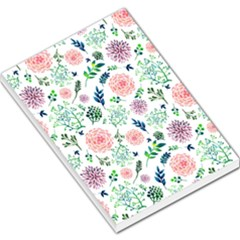 Hand Painted Spring Flourishes Flowers Pattern Large Memo Pads