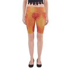 Sunny Happy Orange Dots Yoga Cropped Leggings