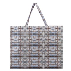 Geometric Diamonds Zipper Large Tote Bag