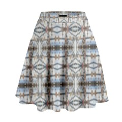 Geometric Diamonds High Waist Skirt