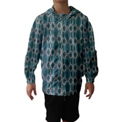 Tropical Blue Abstract Ocean Drops Hooded Wind Breaker (kids)
