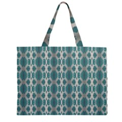 Tropical Blue Abstract Ocean Drops Large Tote Bag