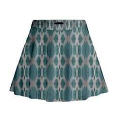 Tropical Blue Abstract Ocean Drops Mini Flare Skirt