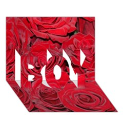 Red Roses Love Boy 3d Greeting Card (7x5)