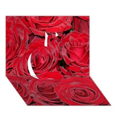 Red Roses Love Apple 3d Greeting Card (7x5)