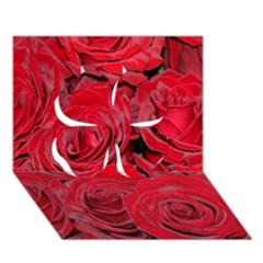 Red Roses Love Clover 3D Greeting Card (7x5)