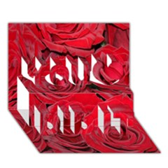 Red Roses Love You Did It 3D Greeting Card (7x5)