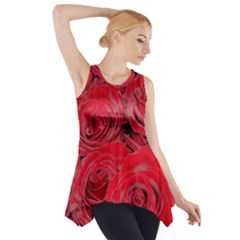 Red Roses Love Side Drop Tank Tunic
