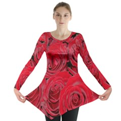 Red Roses Love Long Sleeve Tunic