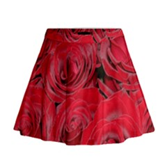 Red Roses Love Mini Flare Skirt