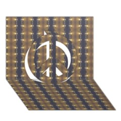 Black Brown Gold Stripes Peace Sign 3D Greeting Card (7x5)