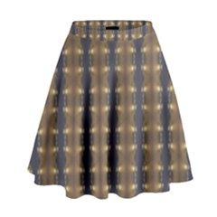 Black Brown Gold Stripes High Waist Skirt
