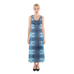 Blue Diamonds Of The Sea 1 Full Print Maxi Dress