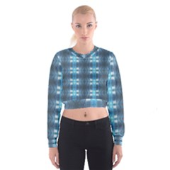 Blue Diamonds Of The Sea 1 Women s Cropped Sweatshirt