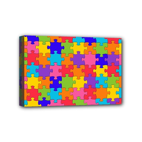 Funny Colorful Jigsaw Puzzle Mini Canvas 6  x 4