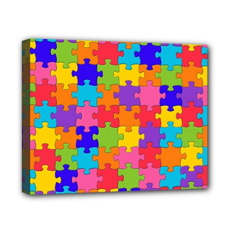 Funny Colorful Jigsaw Puzzle Canvas 10  X 8