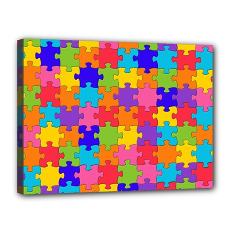 Funny Colorful Jigsaw Puzzle Canvas 16  X 12