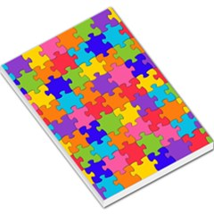 Funny Colorful Jigsaw Puzzle Large Memo Pads