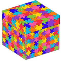 Funny Colorful Jigsaw Puzzle Storage Stool 12