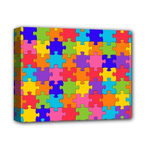 Funny Colorful Jigsaw Puzzle Deluxe Canvas 14  X 11