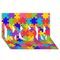 Funny Colorful Jigsaw Puzzle Mom 3d Greeting Card (8x4)
