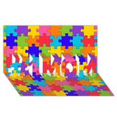 Funny Colorful Jigsaw Puzzle #1 Mom 3d Greeting Cards (8x4)