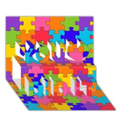 Funny Colorful Jigsaw Puzzle You Did It 3d Greeting Card (7x5)