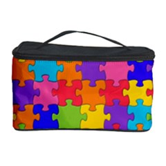 Funny Colorful Jigsaw Puzzle Cosmetic Storage Cases
