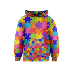Funny Colorful Jigsaw Puzzle Kids  Pullover Hoodie