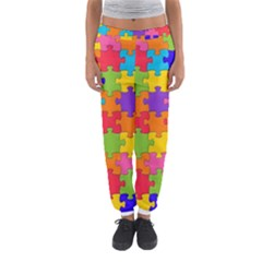 Funny Colorful Jigsaw Puzzle Women s Jogger Sweatpants