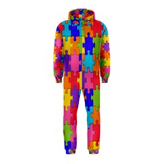 Funny Colorful Jigsaw Puzzle Hooded Jumpsuit (kids)