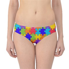 Funny Colorful Jigsaw Puzzle Hipster Bikini Bottoms