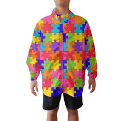 Funny Colorful Jigsaw Puzzle Wind Breaker (kids)