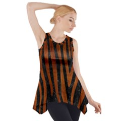 SKN4 BK MARBLE BURL (R) Side Drop Tank Tunic