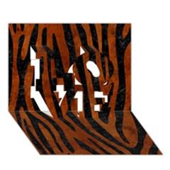 Skin4 Black Marble & Brown Burl Wood Love 3d Greeting Card (7x5)