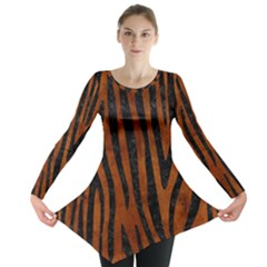 SKN4 BK MARBLE BURL Long Sleeve Tunic