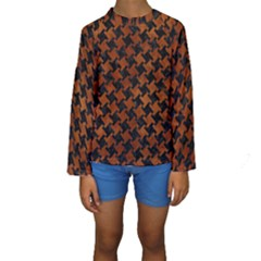 HTH2 BK MARBLE BURL Kid s Long Sleeve Swimwear