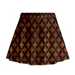 CIR3 BK MARBLE BURL (R) Mini Flare Skirt