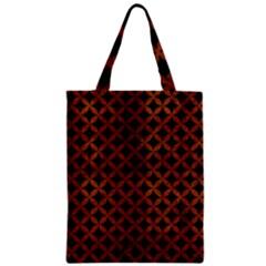 Circles3 Black Marble & Brown Burl Wood Zipper Classic Tote Bag