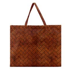 BRK2 BK MARBLE BURL (R) Zipper Large Tote Bag