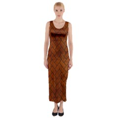 BRK2 BK MARBLE BURL (R) Fitted Maxi Dress