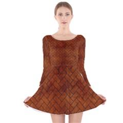 BRK2 BK MARBLE BURL (R) Long Sleeve Velvet Skater Dress