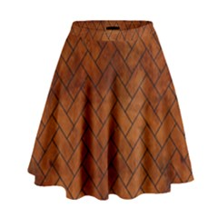 BRK2 BK MARBLE BURL (R) High Waist Skirt