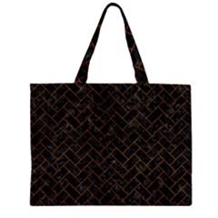 BRK2 BK MARBLE BURL Large Tote Bag