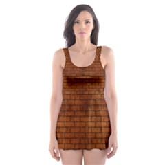 BRK1 BK MARBLE BURL (R) Skater Dress Swimsuit