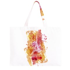 Paris   Mon Amour   With Watercolor Large Tote Bag
