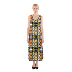 Turtle Full Print Maxi Dress