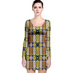TURTLE Long Sleeve Velvet Bodycon Dress
